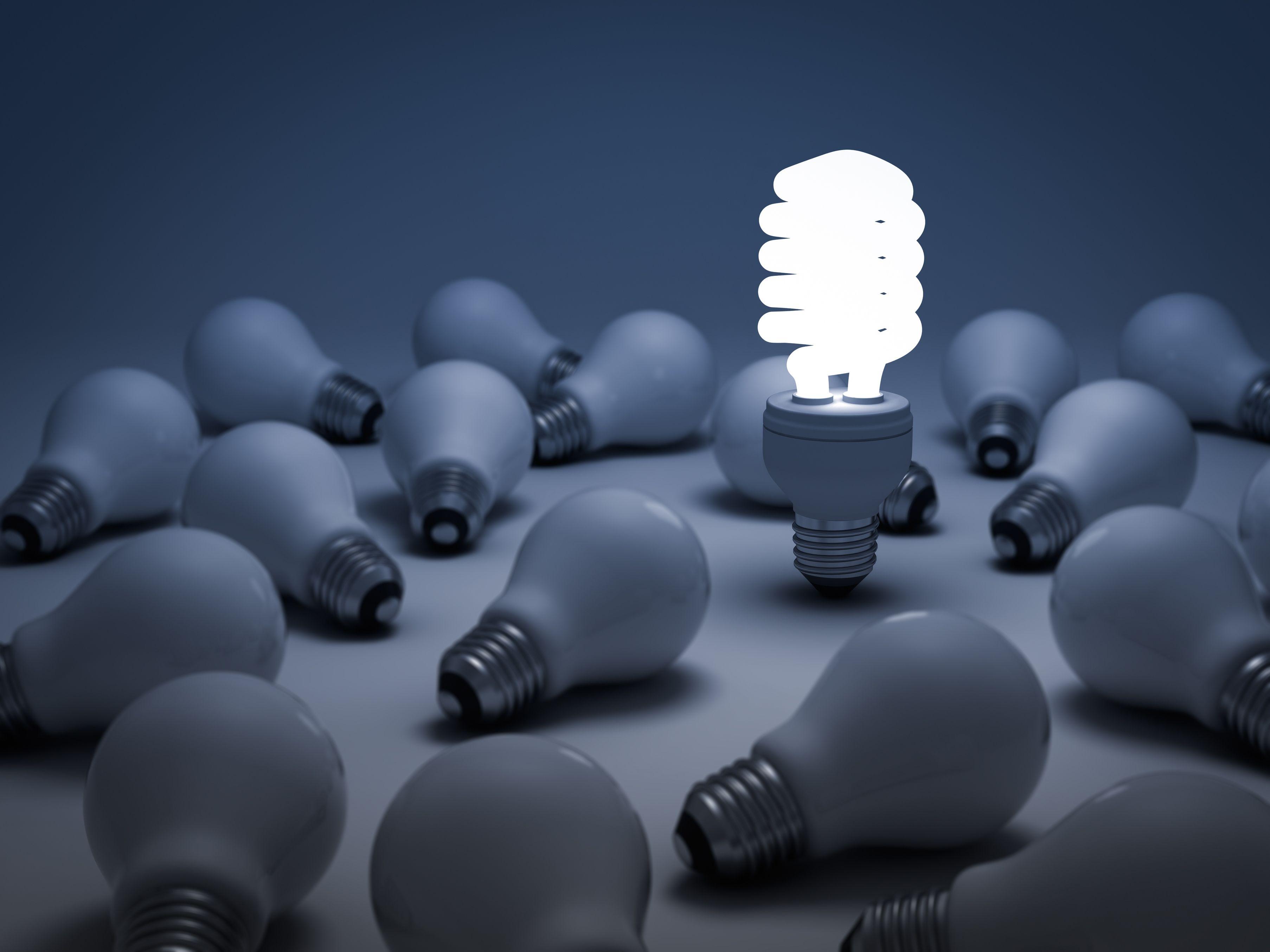 Licht Glühbirne Strom