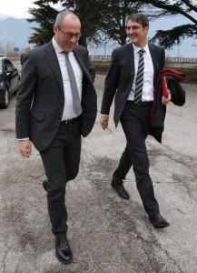 Gemeinsamer Weg: LH Kompatscher mit seinem Trentiner Amtskollegen Ugo Rossi