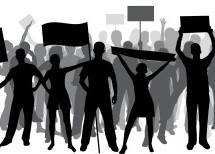 Die Protest-Kundgebung