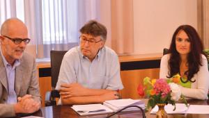 Pressekonferenz Grune Heiss Hans Delllo Sbarba Foppa Brigitte LeibrentenVitalizi