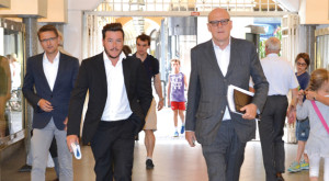 René Benko und Heinz Peter Hager in Bozen (Foto: Karl Oberleiter)