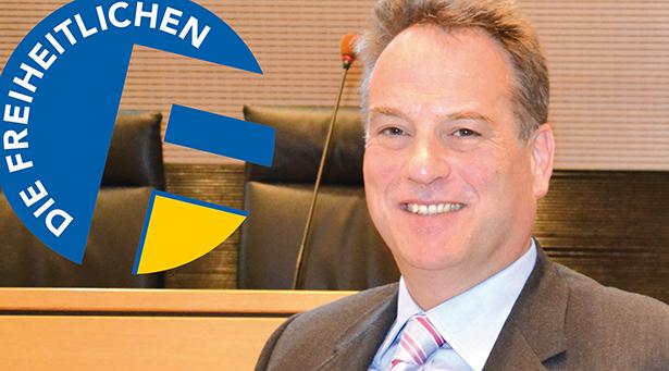 Walter Blaas im Landtag
