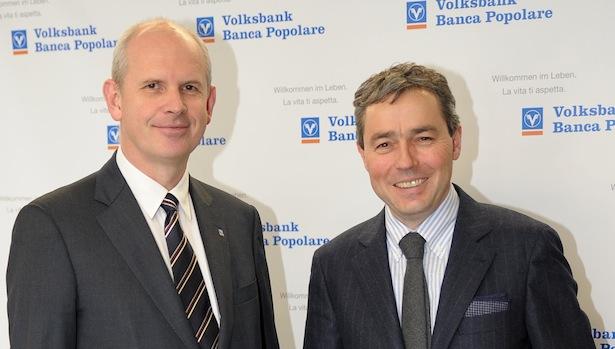 Johannes Schneebacher und Otmar Michaeler von der Volksbank