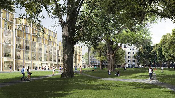 Das Benko-Projekt (vom Bahnhofspark aus gesehen)