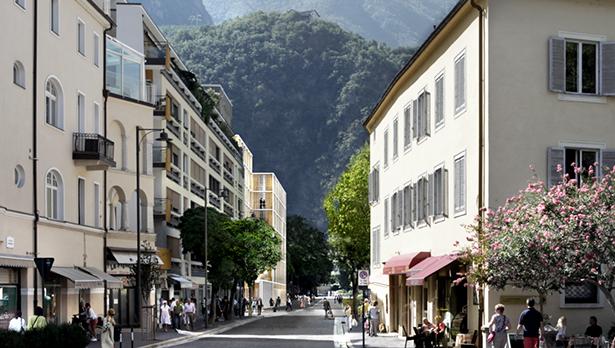 Das Benko-Projekt (von der Südtirolerstraße aus gesehen)