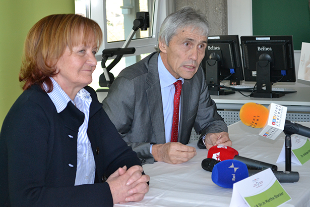 Landesrätin Martha Stocker und Andreas Fabi