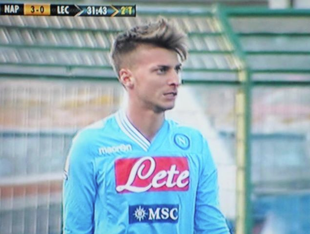 Emanuele Allegra im Dress des SSC Neapel (Foto: forzaazzurri.it)