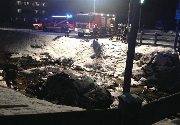 Der Unfall in Wolkenstein (Foto: FF Wolkenstein)