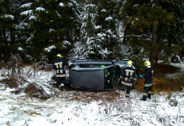 Der Unfall in Innichen (Fotos: FF Innichen)