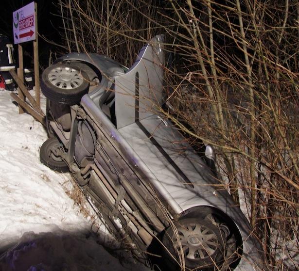 Der Unfallwagen (Foto: FF Sterzing)
