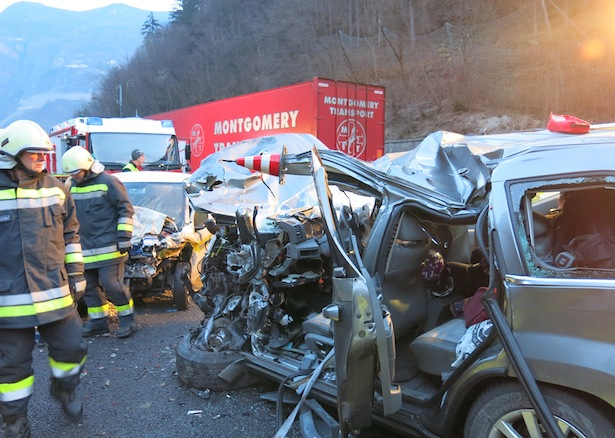 Foto vom Unfallort (Foto: FF Klausen)