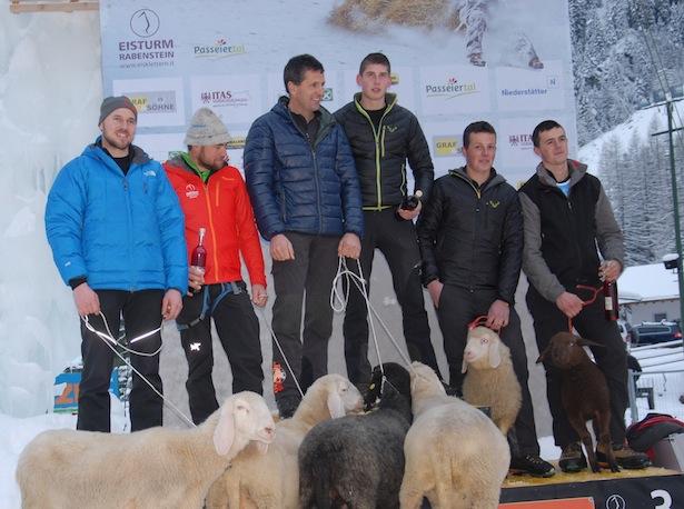 Helmut Ennemoser, Oswald Ennemoser, Hans Brunner, Hubert Brunner, Robert Pfandler und Andreas Pfandler