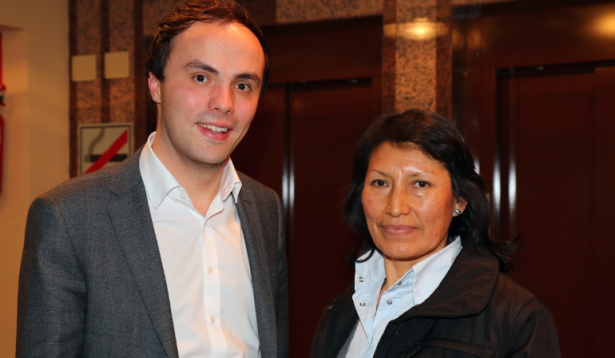 Philipp Achammer mit seiner Stellvertreterin  Paola Lisbeth Carbajal Sanchez