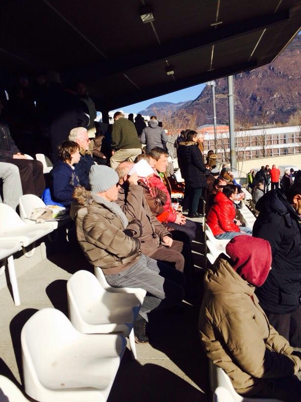 Ungeduldige Fans im Drususstadion