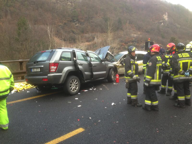 Eines der Unfallautos (Fotos: Florian Kössler)