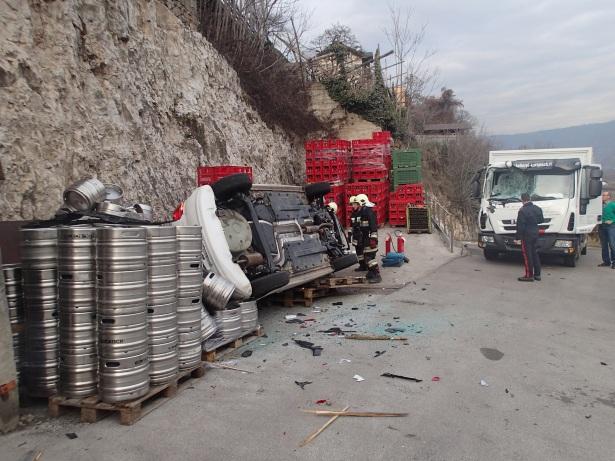 Der Unfall (Fotos: FF Kurtatsch)