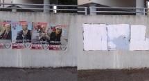 Übermalte Plakate