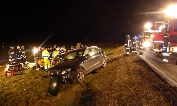 Der Unfall in Vintl (Fotos: unsertirol24.com)