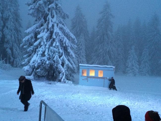 Winterreise am Vigljoch: Die Natur inszeniert kräftig mit.