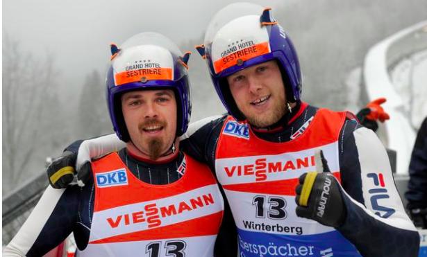 Das Duo Gruber-Oberstolz in einem Archivbild (olimpiaazzurra.com)