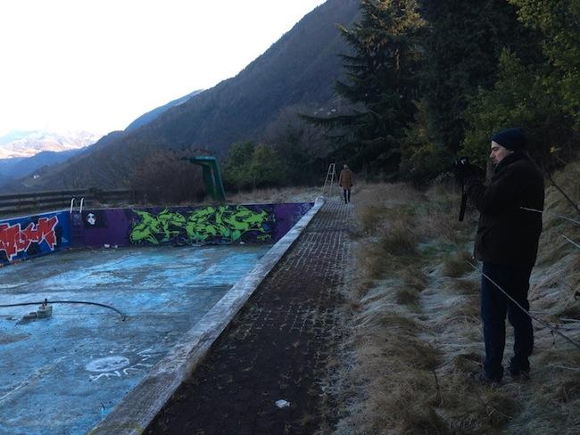 Can Altay am Virgl: Erinnerung an die Tunnelmenschen
