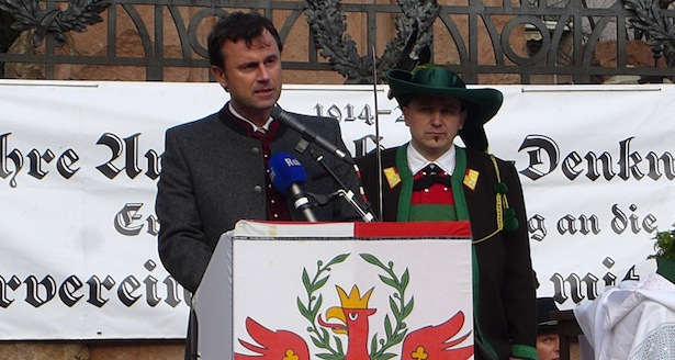 Gedenkredner Norbert Hofer mit LK Elmar Thaler (Fotos: SSB/Oberlechner)