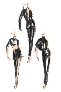 """Ausschnitte der Kollektion """"Total Black"""" der jungen Modemacherin Giulia Mazzi aus Innichen"""