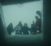 Eistauchen im See