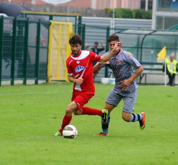 Simone Branca im Hinspiel gegen Alessandria (Fotos: Max Pattis)