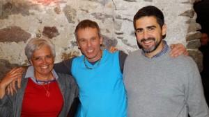Maria Teresa Fortini, Rudi Rieder, Riccardo Fraccaro (v.l.n.r.)