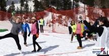 Handball im Schnee