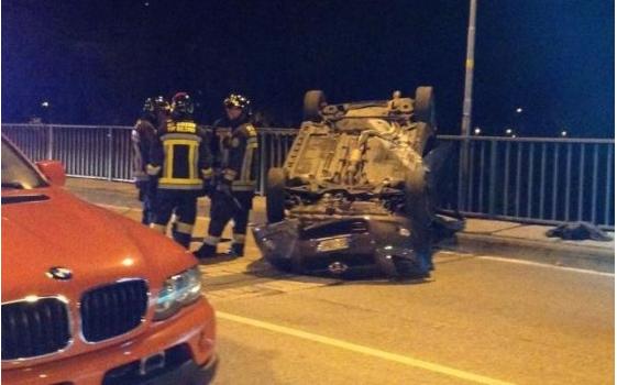 Der Unfall auf der Palermobrücke (Foto: Rttr)