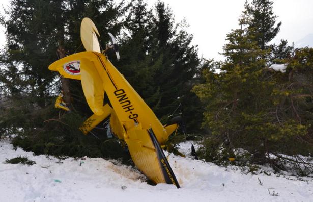 Der abgestürzte Kleinflieger (Alle Fotos: ladigetto.it)