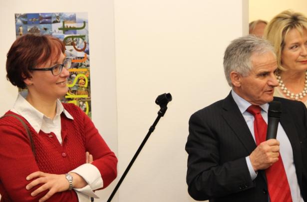 Engelbert Schaller mit Karin Egarter