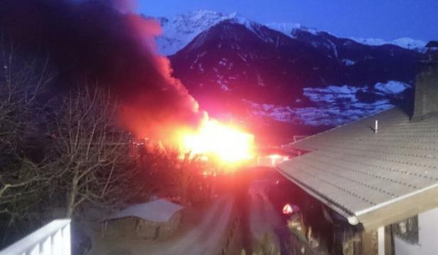Der Brand in Eyrs (Foto: FF Eyrs/Facebook)