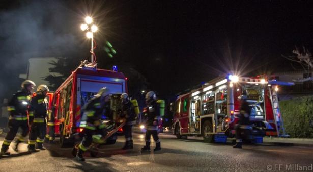Der Brand in Milland (Alle Fotos: FF Milland)
