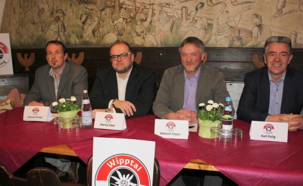 Andreas Pichler, Martin Alber, Dieter Thaler und Karl Polig