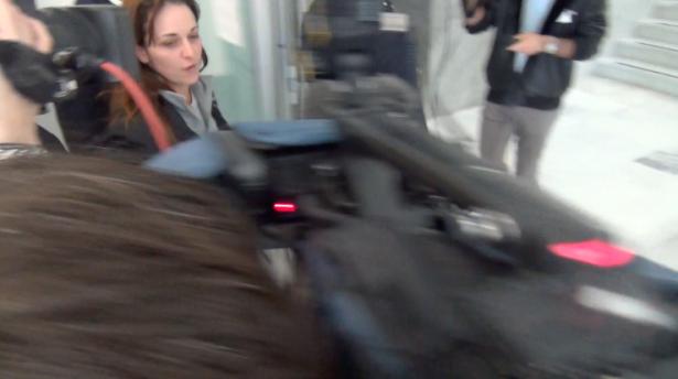 Ester Quici im Gerichtspalast (Foto: Daniel Bologna)