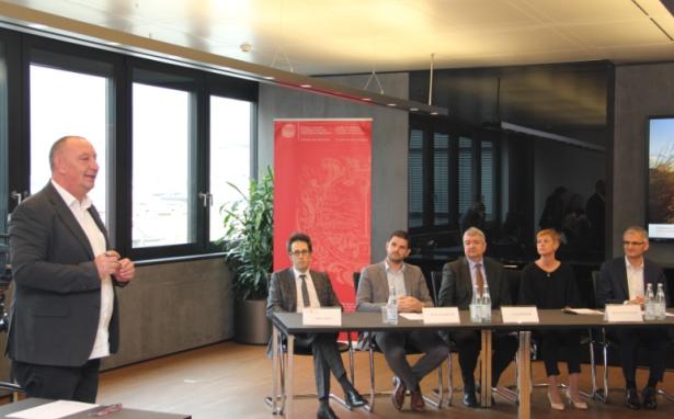 Manfred Schweigkofler, Andrea Zeppa, Werner Waldboth, Georg Kössler, Marion Pristinger und Paul Zandanel