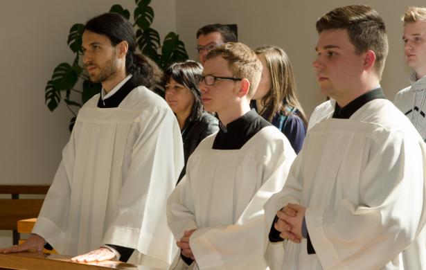 Francesco Cavagna, Peter Kocevar und Michael Lezuo (Alles Fotos: Diözese)