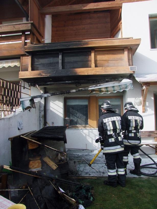 Der Feuerwehreinsatz in Thuins (Foto: FF Sterzing)