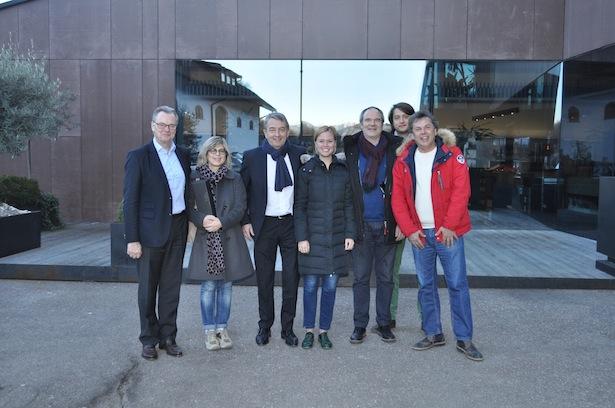 Wolfgang Wirthmann, Monika Gross, Wolfgang Niersbach, Sarah Filippi, Sighard Rainer, Daniel Moser, Franz Moser