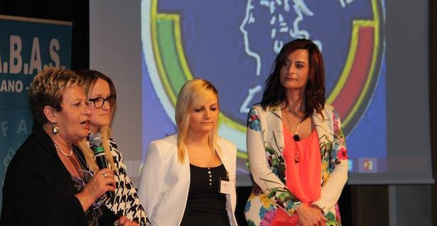 Stella Falcomatà, Margit Gostner, Nadine Lanziner und Moderatorin Francesca Olivetti