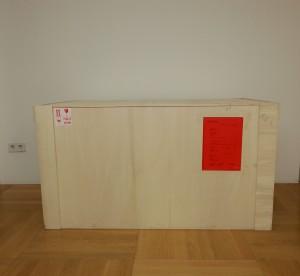 Das Paket mit einem der Projektentwürfe