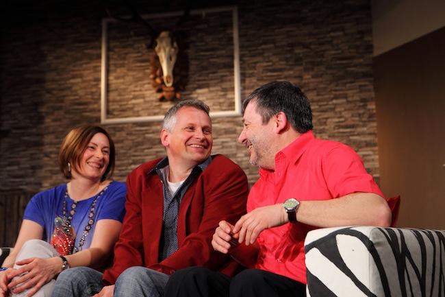 Theresia Gallmetzer, Andreas Penn und Joachim Mitterrutzner: Lügen, Lügen, Lügen. (Foto: Ulrich Kofler)