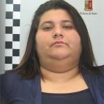 Die von der Polizei verhaftete Frau