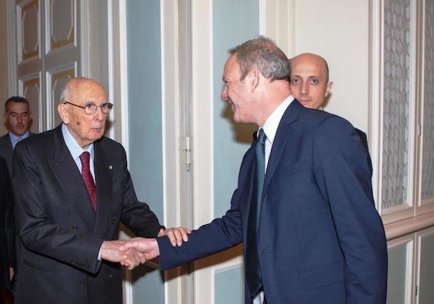 Giorgio Napolitano und Karl Zeller