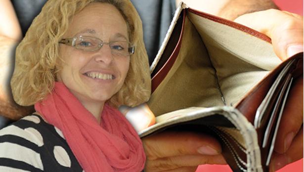gabrielle morandell-leere brieftasche