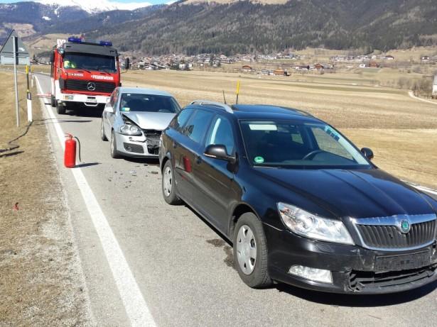 Der Unfall in Pfalzen (Foto: FF Pfalzen)