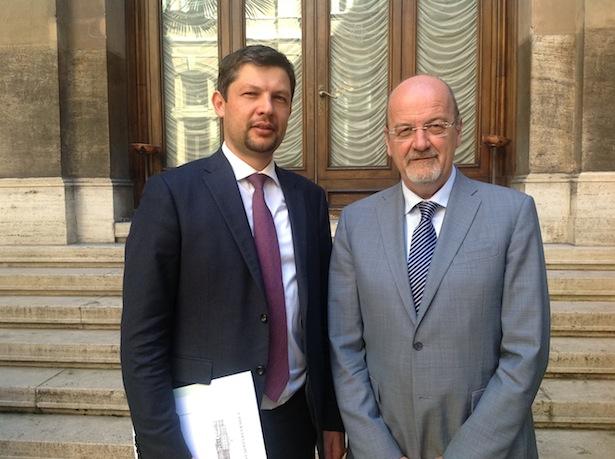 Daniel Alfreider mit Rudi Franco Marguerettaz